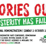 National Demonstration against the Tories in Birmingham this Sunday from 11:30am at Victoria Square #birmingham https://t.co/cgVhjTOvFB