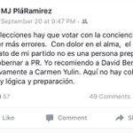 Hija de Miriam Ramírez de Ferrer (@mjean2) endosa las candidaturas del Dr. @DavidBernierPR y @CarmenYulinCruz. https://t.co/rZ0gsi6kIj