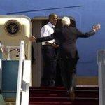'Acelera, Bill!': Obama reclama com Clinton por lentidão para embarcar