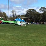 Great to have @SHSCHelicopter  at #bungendorecarshow to help with fund raising. Thanks guys. https://t.co/iqFineYyHt