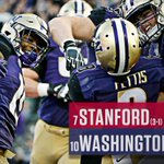 Washington gets its largest win over a Top-10 team in program history, dominating Stanford, 44-6. https://t.co/8RmLCH3HmQ