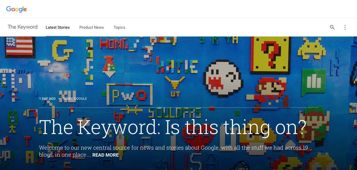 Dot Brand is officially here thanks to Google launching Blog dot Google https://t.co/DSJtesPvRC #newtld #domains https://t.co/yq4flYNXCN