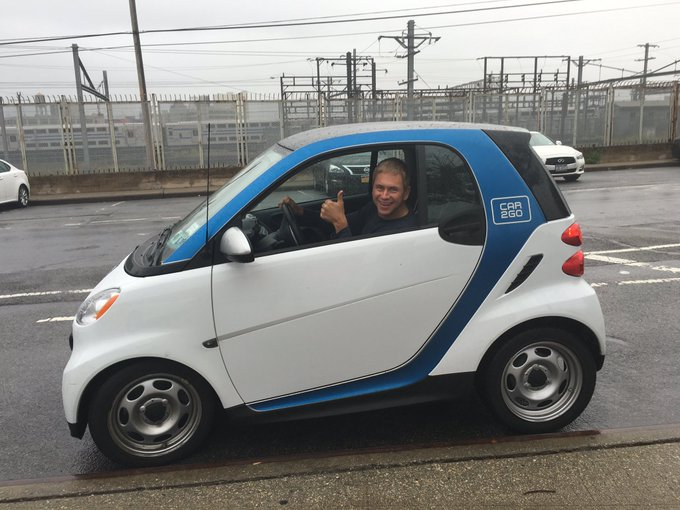 Pat Kiernan @PatKiernan: Rented @car2go for the first time today. There are a lot of parking spots open when your car is 8 feet long. #picks https://t.co/YM4A9HwSYM