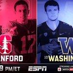 No. 7 Stanford vs. No. 10 Washington 📺 NOW on ESPN WATCH: https://t.co/wZXbte1jcT https://t.co/IOXFmVzyEZ
