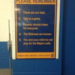 Loving this sign posted at #foresthill arena. #toronto https://t.co/WHsfQltzwc