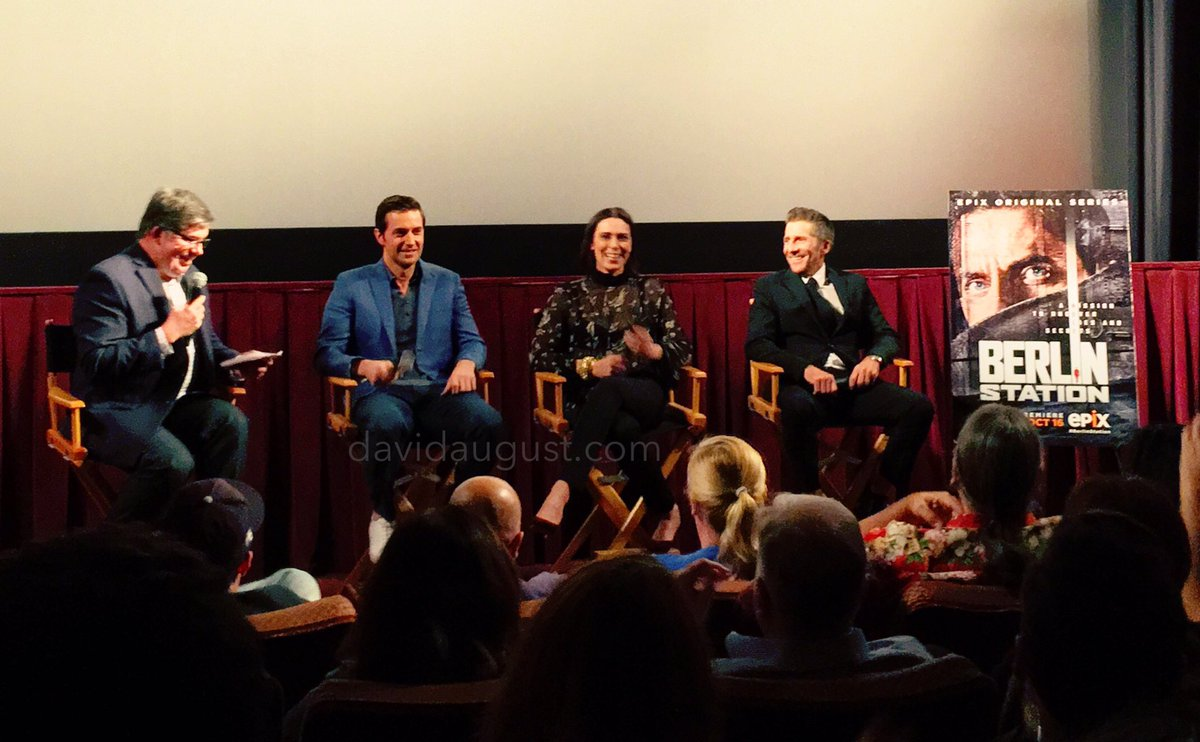 Q&A with cast from @BerlinStation at @reald3d theatre. #spy #spies #tv #epix #BerlinStation #actors #acting https://t.co/G05fOC6fsk