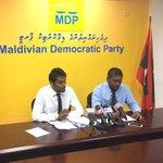 MDP ge Press Conference kuriah dhanee. Live on: @Raajje_tv https://t.co/PeFl6moK7S