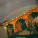 Impressive rainbow over Brighton this morning https://t.co/kHp0vRLpx0