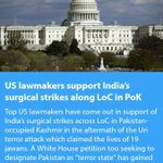 US lawmakers support India's surgical strikes along LoC in PoK https://t.co/flQ3FxEajH … https://t.co/0cRJFLzGY0