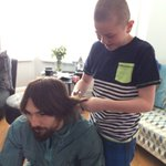 Mike Towell got his hair cut off for charity to help that young lad with cancer. #levels https://t.co/x42M6l1uiA