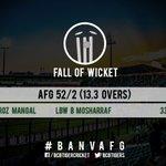 BCB_TIGER: Mosharraf Hossain strikes, Nawroz walks back after a steady start. Afghanistan 52/2 from 13.3 overs. #… https://t.co/i1rFdIuBc7