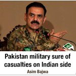 """Lt Gen Asim Bajwa says it is not clear why India is """"hiding its losses"""". https://t.co/mjckC8kSkW #Pakistan #India https://t.co/XgMN0Fxd3v"""