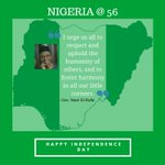 Happy Independence Day! #NigeriaAt56 https://t.co/KFNPdbaSIK