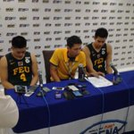 Joe Trinidad, FEU coach Nash Racela and Raymar Jose in the post-game! :) #UAAPSeason79 https://t.co/NTKZ69kn9N