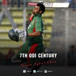 Congrats to @TamimOfficial28 for his 7th ODI Century. (Admin) #BANvAFG https://t.co/RaHbR3U8si