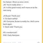 BTS Ment on 2016 Busan One Asia Festival (Eng Trans) @BTS_twt #방탄소년단 #BTS https://t.co/K2mbcC9tgj