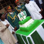 "Happy 56th Independence Day, Nigeria. This years Cake reads ""Change Begins With Me"". #NigeriaAt56 https://t.co/D530ev4Z27"