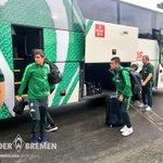 The #Werder lads have arrived at the stadium! #d98svw https://t.co/FjJ5eV0coP