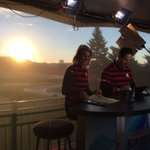 A beautiful morning sun coming up behind our #RyderCup set! ☀️☀️☀️ https://t.co/biaG6J6fEm