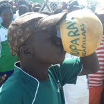 Supporters for Arua side- Onduparaka ready for the battle with SC Villa. https://t.co/G8mZytMPPD