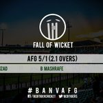 WICKET! BOWLED him! Mashrafe claims the big wicket, Shahzad goes for a duck! Afghanistan 5/1 (2.1 overs). #BANvAFG https://t.co/vJcBlzlHFZ