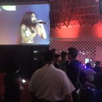 Hubby watching wifey :) #JaDineLoveDagupan https://t.co/RrPV3q6QqF