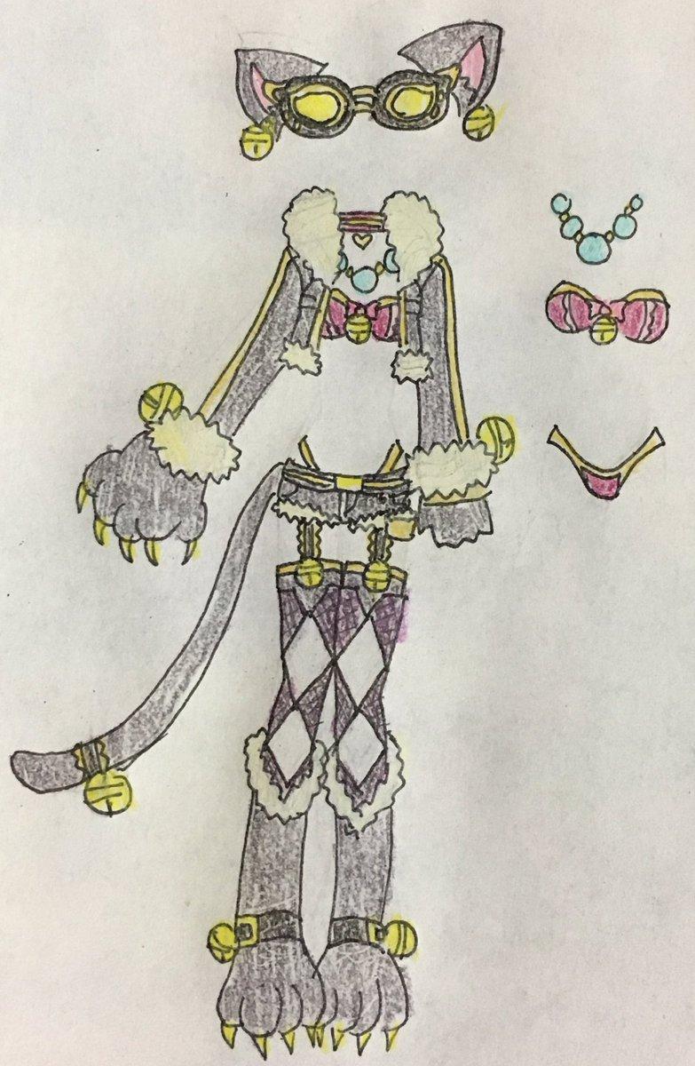 ヒーローバンクのシャドーキティの衣装をSCR化 #他作品衣装SCR化 ふわふわでゴージャス感とワイルド感アップ