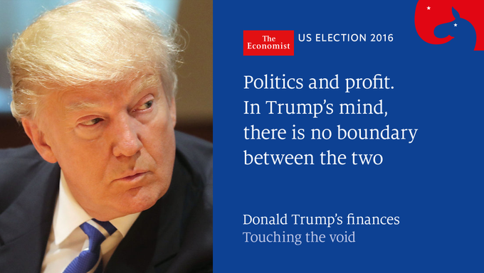 The Economist @TheEconomist: Donald Trump's finances are the murkiest of any candidate in memory  https://t.co/iiBa5V3p1a https://t.co/itUgc7iTnI