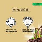 #Einstein antes y después de un #cafegalavis ¿Y tú en cuál estás? #cafe #colombia #cucuta #molido https://t.co/D2buPfUdEa