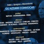 [#Italie🇮🇹] La liste des joueurs italiens convoqués pour affronter lEspagne🇪🇸 et la Macédoine 🇲🇰 https://t.co/z9gPsu3Wzc