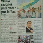 20 razones para votar por la paz: gobernador de Boyacá, @CarlosAmayaR. https://t.co/QRY8OtFLvN