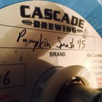 This is NOT your average pumpkin beer! Triple roasted & aged for 11 months in rum barrels,sour spicy @cascadebrewing Pumpkin Smash #OnTapNow https://t.co/Q85HNERaxs