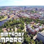 Hyvää syntymäpäivää Suomen suosituin ja Seudun pääkaupunki #Tampere! https://t.co/vYpteHzOkL
