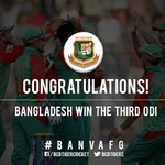Its over! Bangladesh have won the 3rd ODI by 141 runs as well as the series! Its their 100th ODI win too! #BANvAFG https://t.co/D8dIiprUDQ