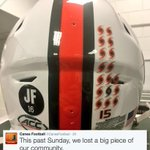 The Miami Hurricanes will honor José Fernández today with a decal on their helmets. (via @CanesFootball) https://t.co/hbiounhyzt