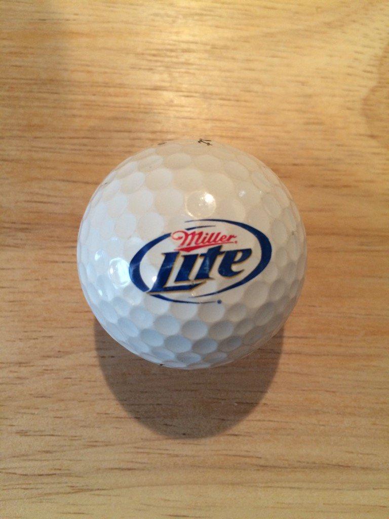 ⛳️ Donated Ball Of The Day ⛳️ @MillerLite It's #MillerLite time! Courtesy of @u4golf1 #logo #golf https://t.co/mrBiclQ1lH