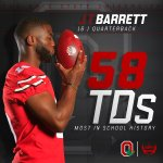 J.T. Barrett now holds the record for most passing TDs in Ohio State history. https://t.co/PVT9JPO0sQ