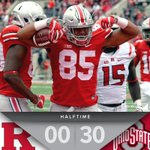 💪 Superior Scarlet 💪 @OhioStateFB leads Rutgers 30-0 at the break #GoBucks | https://t.co/He7w8aQLnY https://t.co/oMB79FepEG