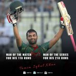 Alhamdulillah, both Man of the Match & Man of the Series. #BANvAFG https://t.co/Hb2g82NTww