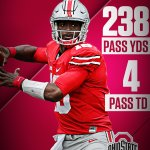Have a day, J.T. Barrett. Barrett sets a new Ohio St Pass TD record to help the Buckeyes rout Rutgers, 58-0. https://t.co/n8Lmf56pfP