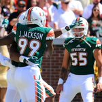 Still undefeated.  No. 14 Miami takes care of business in Atlanta as they defeat Georgia Tech 35-21 https://t.co/TVaXrERcf4