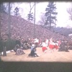 Home Movie Day 2016 at Andalusia Farm -someone brought in a 16mm reel with UGA/GT and UGA/UF football footage ~1950s! https://t.co/dXydM1RiWa