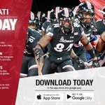 Download the Bearcats Gameday app for all your info before and during the game! 🏈🔴⚫️ https://t.co/1S0TQufJWI