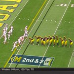 "Jim Harbaugh checking for attendance? Michigan comes out in a ""line leader formation 😂 https://t.co/uKytxHO9XD"