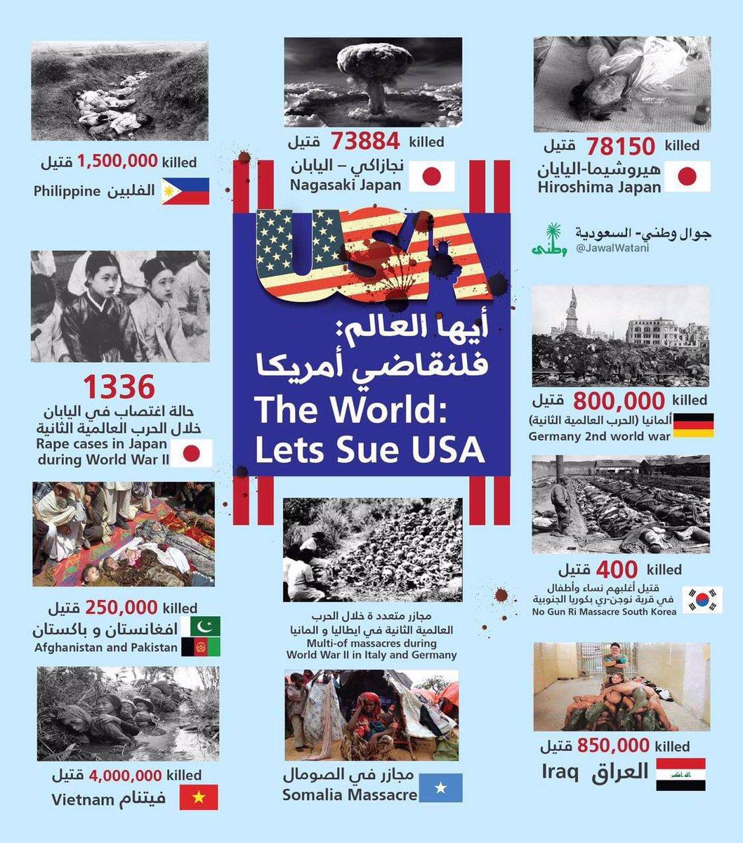 Hello World #let_us_sue_usa جرافيك ذكي جداً أيها العالم #تعالوا_نحاكم_أمريكا #جاستا #JASTA  #saudi #السعودية https://t.co/nfbsr4t1Vb