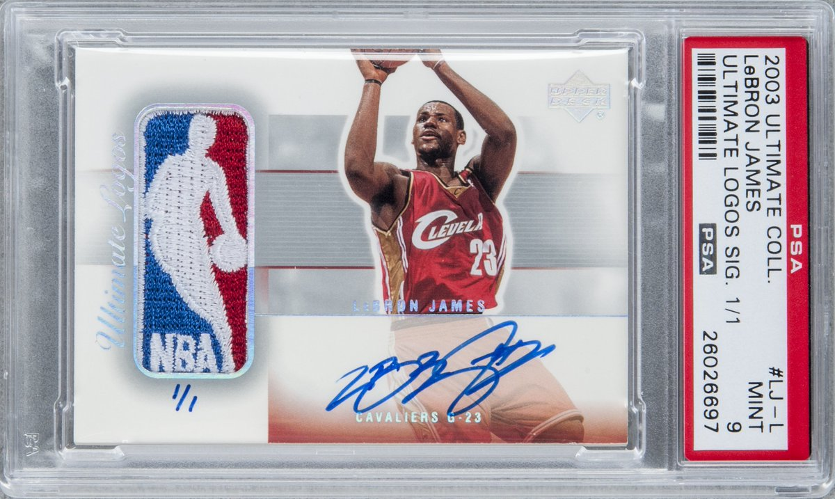 This 2003-04 @UpperDeckSports Ultimate Collection 1/1 Logoman Autograph just sold for $318,500. https://t.co/tYg84pdjFU