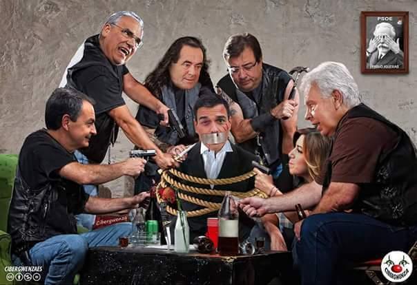 Menuda Mafia se ha quedado la dirección del PSOE. ¡Está hasta el amigo de Pablo Iglesias! https://t.co/V5z3dC07td