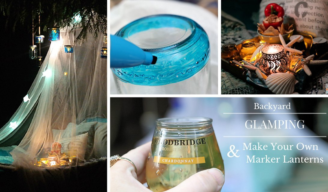 Msg 4 21+   Backyard Glamping and DIY Glass Lantern Tutorial #ShareWine #ad #CollectiveBias https://t.co/tq22zgJ6Z5 https://t.co/vWLdEZNJ7c