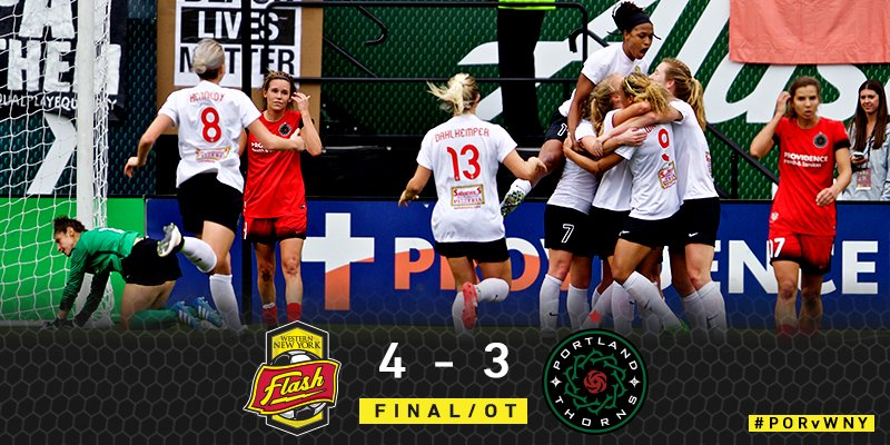 THE FLASH TAKE DOWN PORTLAND IN OVERTIME AND WILL ADVANCE TO THE NWSL CHAMPIONSHIP. https://t.co/G2nFuXRsye