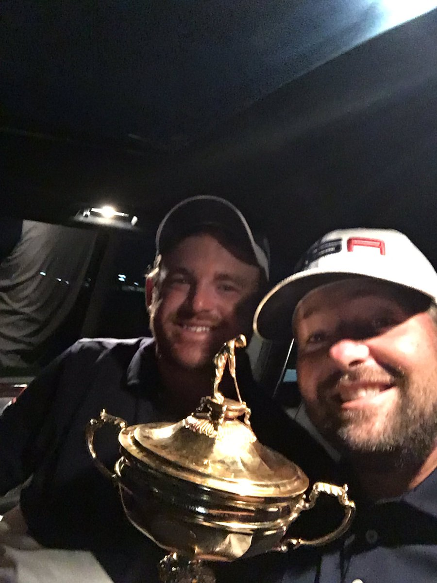 Ryan and I riding home with the cup ! # teamwork https://t.co/ST0CJ03zMl